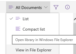Open a SharePoint document library in Windows File Explorer